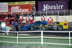 The aftermath of the lap 37 accident that relegated Sitterly to a P12 finish (Roy Dewhurst photo)