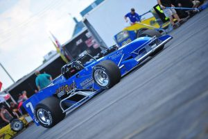 Otto Sitterly pulling the Royal Purple No. 7 pitside Saturday (Bill Taylor photo)