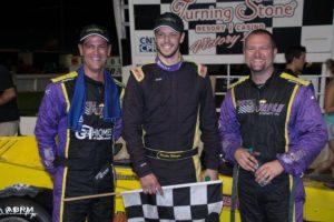 Otto (left) and Shullick join Brandon Bellinger on the podium