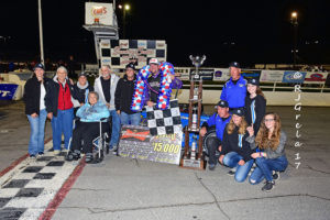 DJ Shullick and Nicotra Racing in Oswego Classic Victory Lane (Ray Grela photo)
