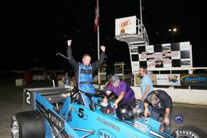 Dave Shullick Jr. emerges from another dominating win at Oswego (Robert J Clark photo)