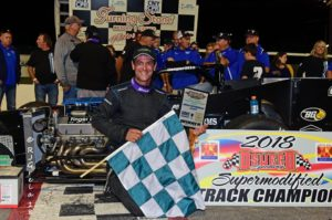 Otto Sitterly and Nicotra Racing in August 18 victory lane (Ray Grela photo)