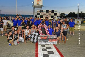 The Nicotra Racing / Otto Sitterly team celebrate Classic win No. 5 for Otto and Nicotra's sixth overall (RJ Grela photo)
