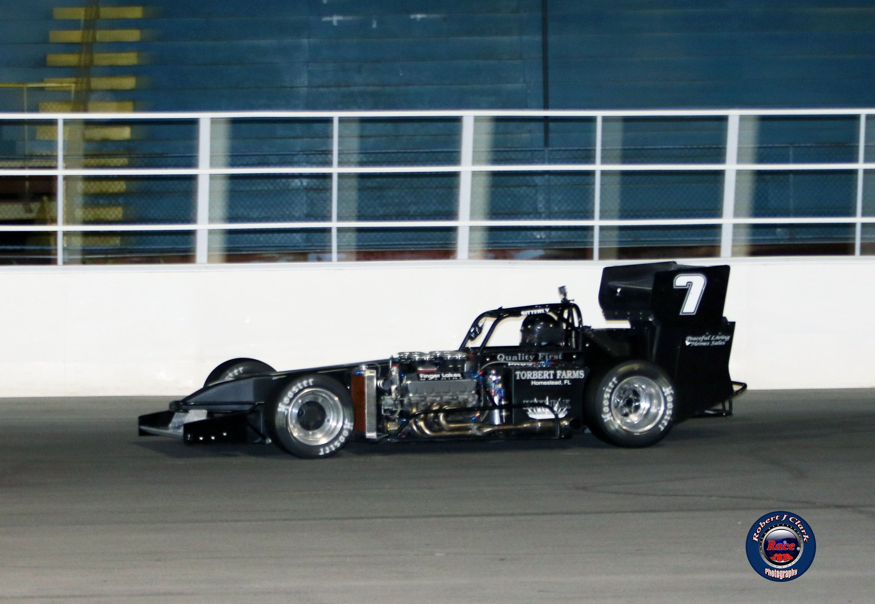 Otto Sitterly races to a third-place finish in the Retro Night 45 (Robert J Clark photo)