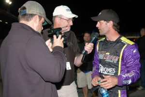 Otto discusses the second main event of 2016 with Oswego media (Roy Dewhurst photo)