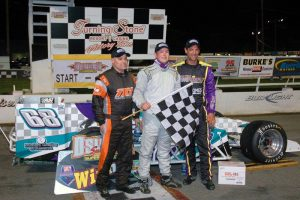 Otto joins winner Michael Barnes and P3 Tim Devendorf in Oswego victory lane (Roy Dewhurst photo)
