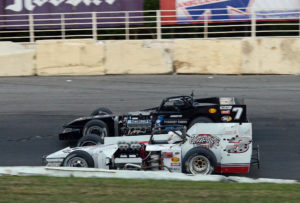 Sitterly races wheel to wheel with Doug Didero, who was Otto's main challenger (Jim Feeney photo)