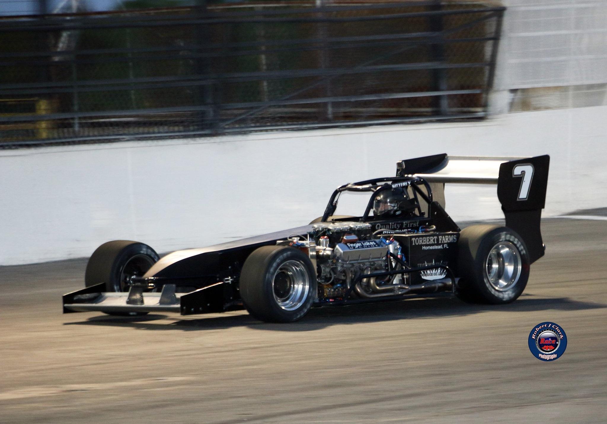 Otto Sitterly in action Saturday, June 8 at Oswego Speedway (Robert J Clark photo)