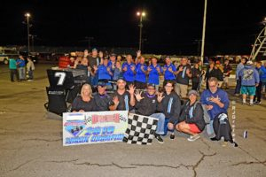 Otto Sitterly and Nicotra Racing after closing out championship No. 9 (Ray Grela photo)