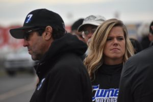 Alison Sload and team owner John Nicotra (Rich Eider photo)